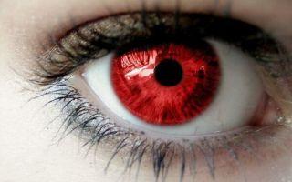 Бывает ли у человека красный цвет глаз: мистика или заболевание?