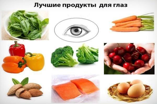 Полезные при близорукости продукты