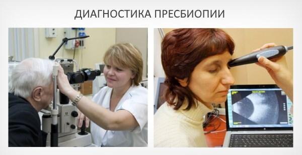 Диагностика пресбиопии