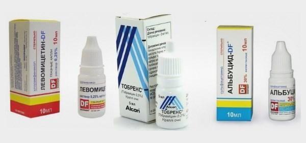 Капли с антибиотиком