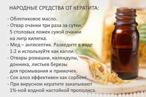Народные средства от кератита