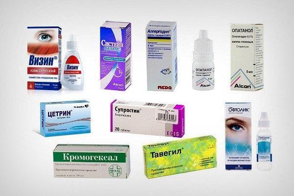 Препараты для лечения красноты глаз