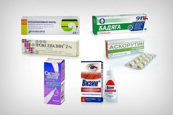 Препараты для лечения кровоизлияния в глаз