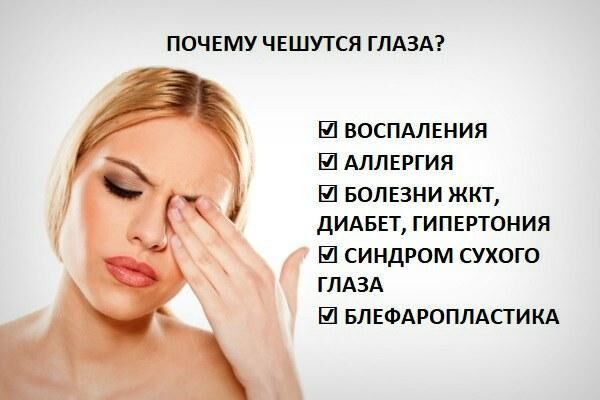 Причины зуда глаз