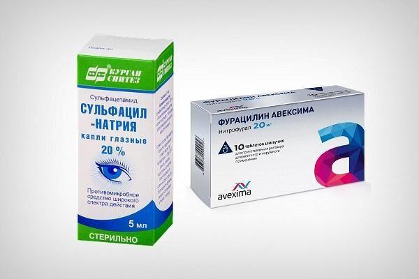 Препараты для промывания глаз при конъюнктивите