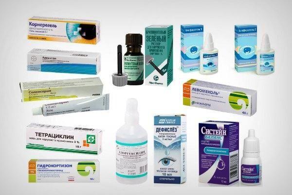Препараты для лечения чешуйчатого блефарита
