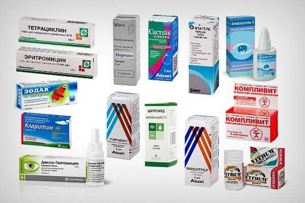 Препараты для лечения хронического блефарита