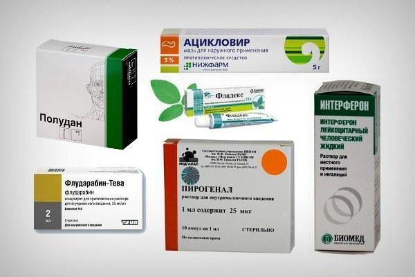 Препараты для лечения герпетического кератита
