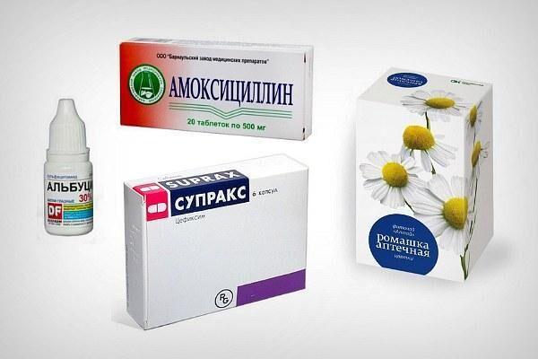 Препараты для лечения ангины и конъюнктивита