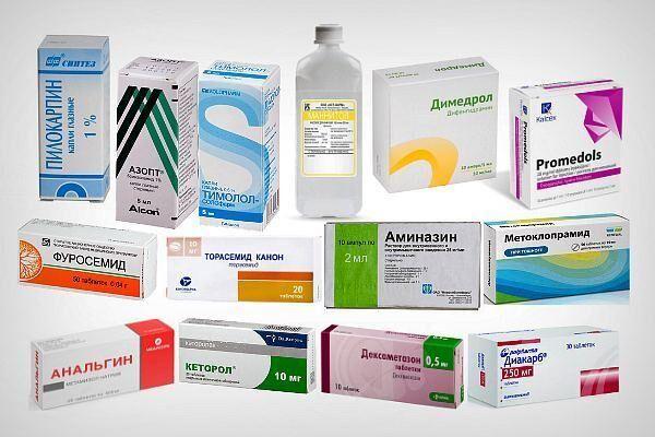 Препараты для лечения острой глаукомы