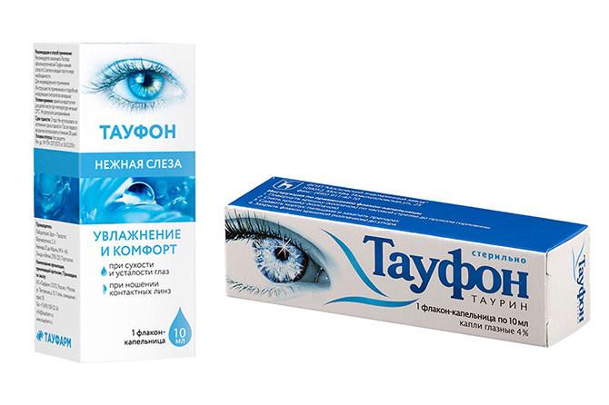 Капли глазные Тауфон