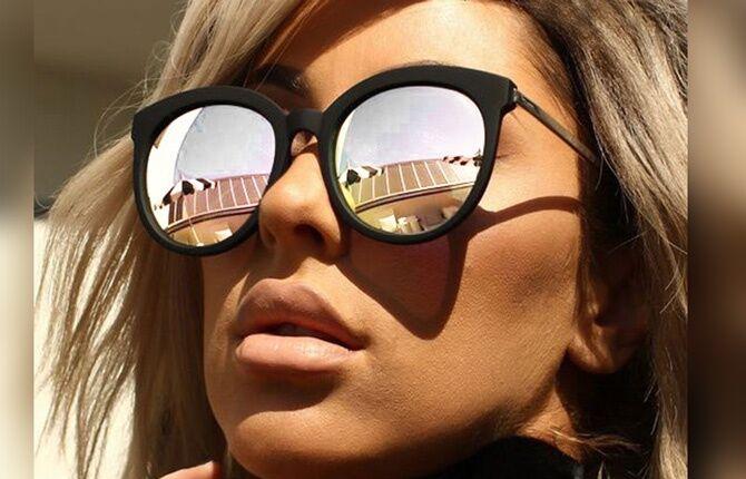 Зеркальные стекла в очках