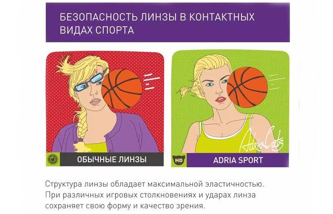 Безопасность линзы в контактных видах спорта